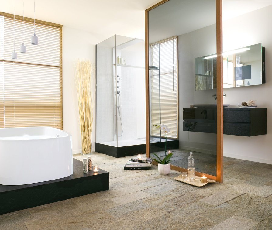 HOESCH Single Bath in Schiefer