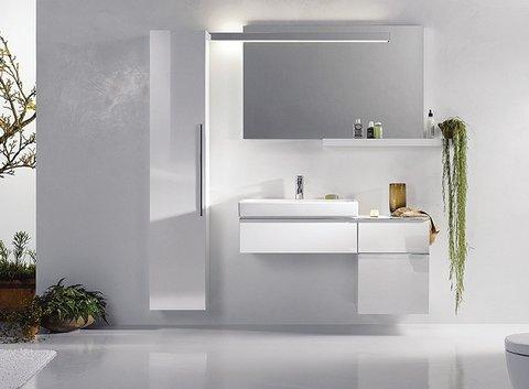 KERAMAG Badezimmer mit Spiegel, Waschbecken